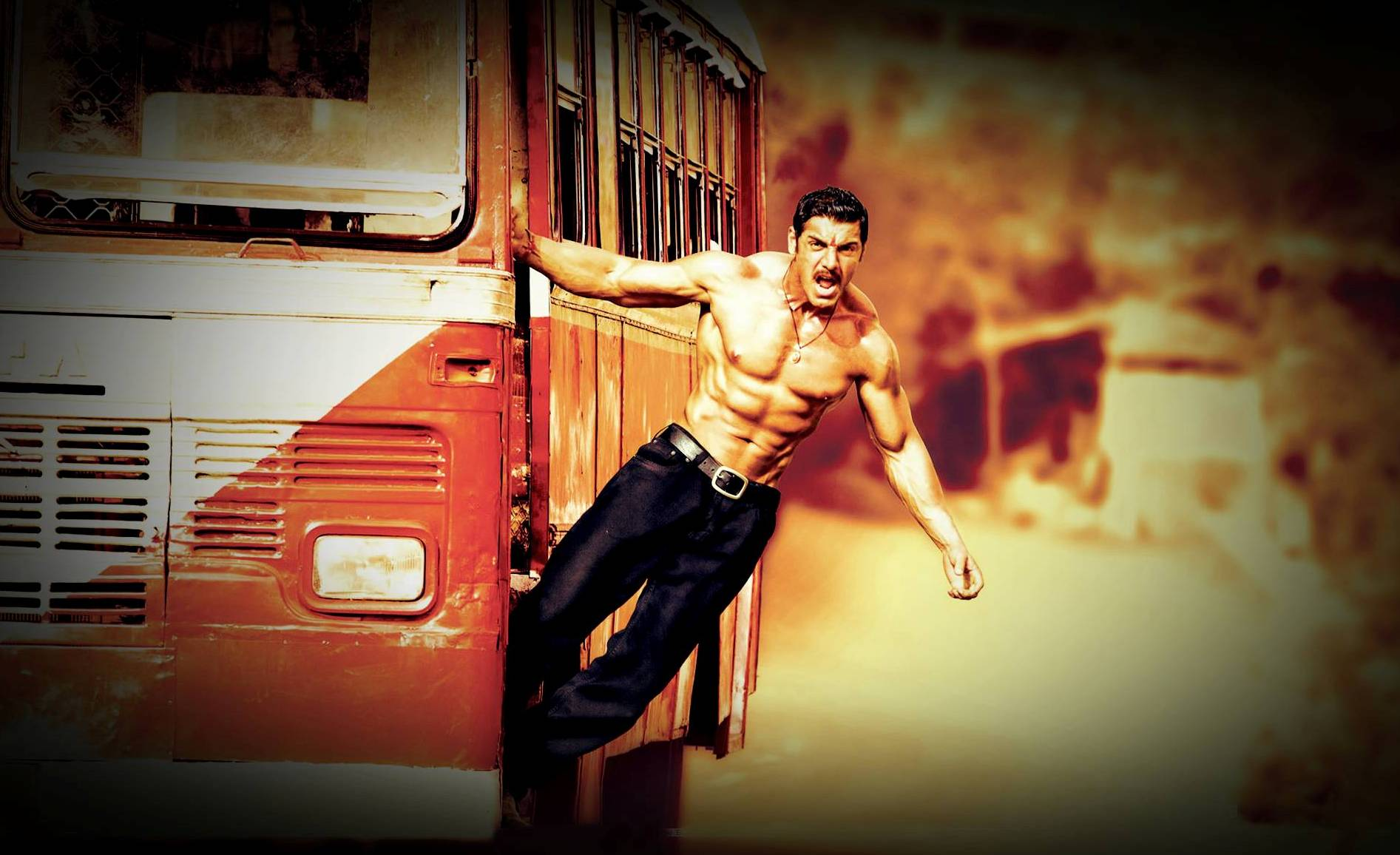 John Abraham in Shootout at WadalaJohn Abraham Body Building In Shootout At Wadala
