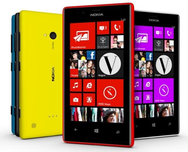 Nokia Lumia 720 Color Range