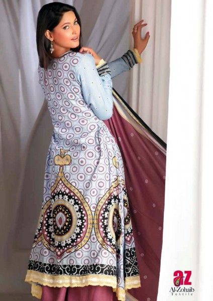Al-Zohaib Latest Monsoon Lawn Collection 2013 Nice White dress