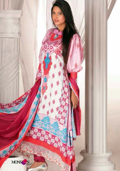 Al-Zohaib Latest Monsoon Lawn Collection 2013 Beautiful dress