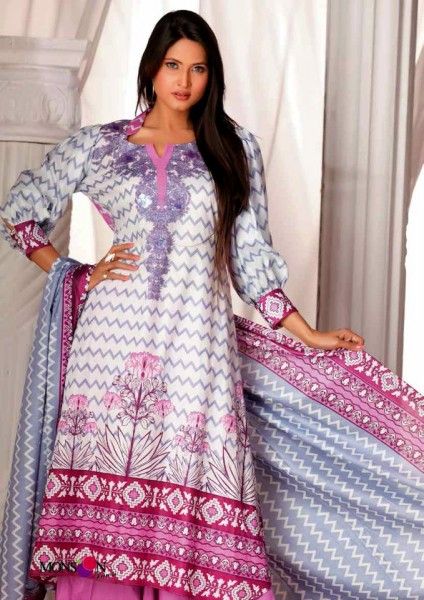 Al-Zohaib Latest Monsoon Lawn Collection 2013 Awesome dress