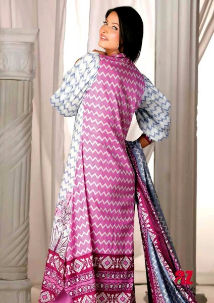 Al-Zohaib Latest Monsoon Lawn Collection 2013 Beautiful Kameez