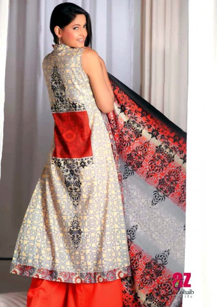 Al-Zohaib Latest Monsoon Lawn 2013