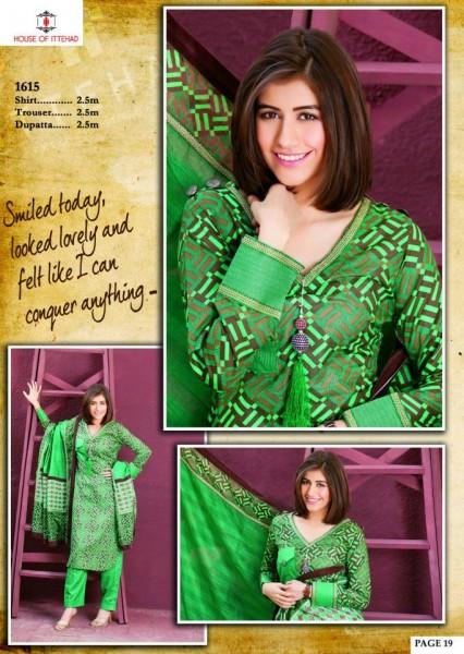 Asim Jofa Crystal Latest Lawn Collection 2013 Green