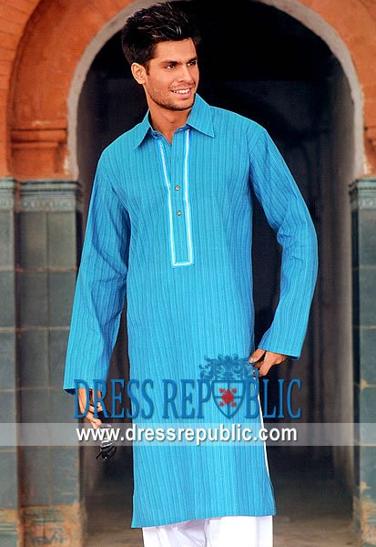 Men's Shalwar Kameez 2013 Sky Blue
