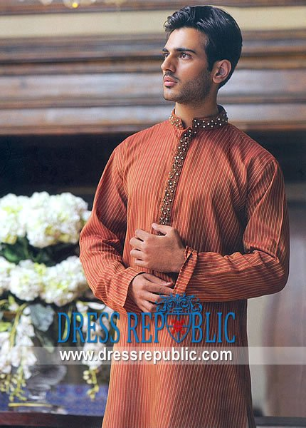Men's Shalwar Kameez 2013 red kurta