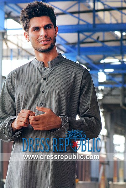 Men's Shalwar Kameez 2013 Gray