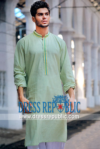 Men's Shalwar Kameez 2013 light green