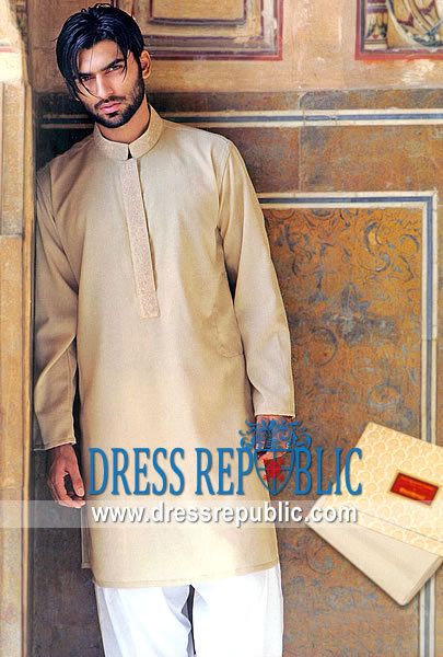 Men's Shalwar Kameez 2013 light brown