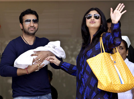 Shilpa's Hunsband & Son