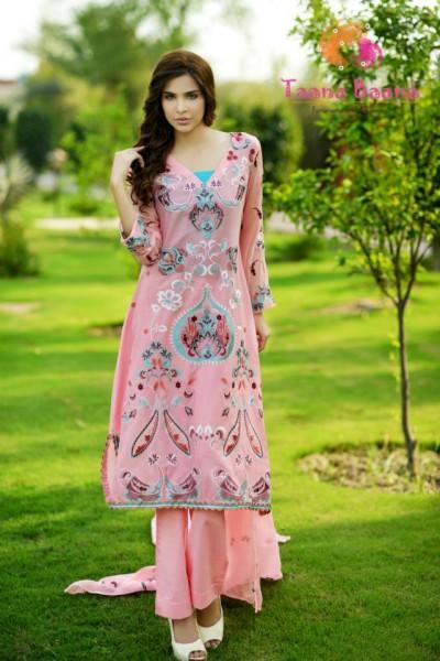 Taana Baana Latest Summer Collection 2013 Pink beautiful dress