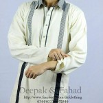 Deepak and Fahad Men Eid Collection 2013 White Kurta Pic