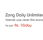 Zong Daily Unlimited Mobile Internet Package