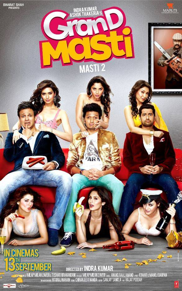 bollywood movie grand masti 2013 poster