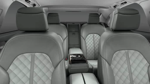 Audi A8 L 2013 back interior view