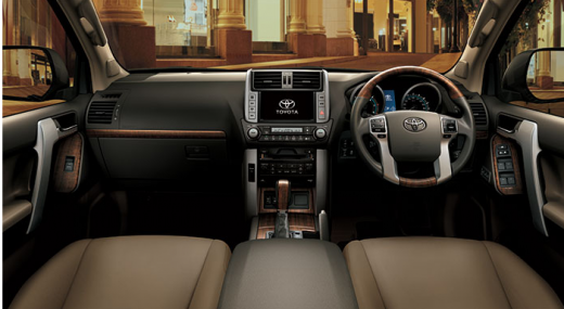 toyota land cruiser prado 4 0 vx 2013 interior view