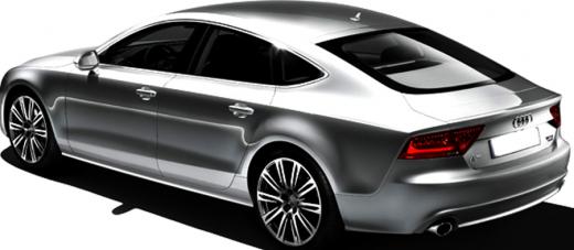 Audi A7 Sportback 2013 side view