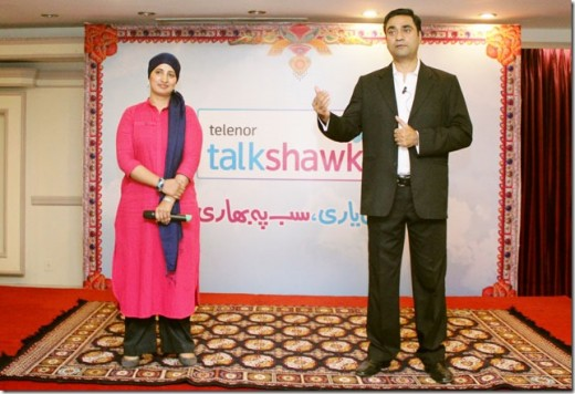 Telenor Talkshawk New and Unique Tagline with Name of Sachi Yaari