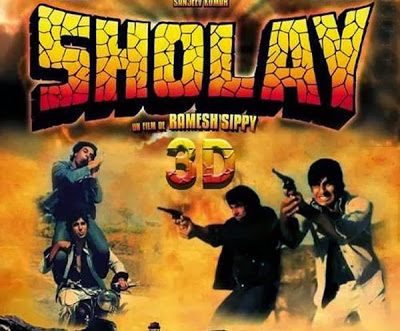 Sholay 3D 2014 movie poster