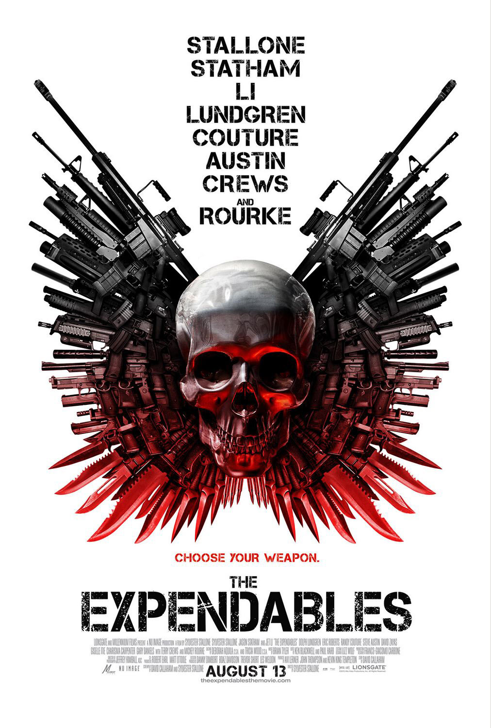 Hollywood Action Film The Expendables 3 Poster