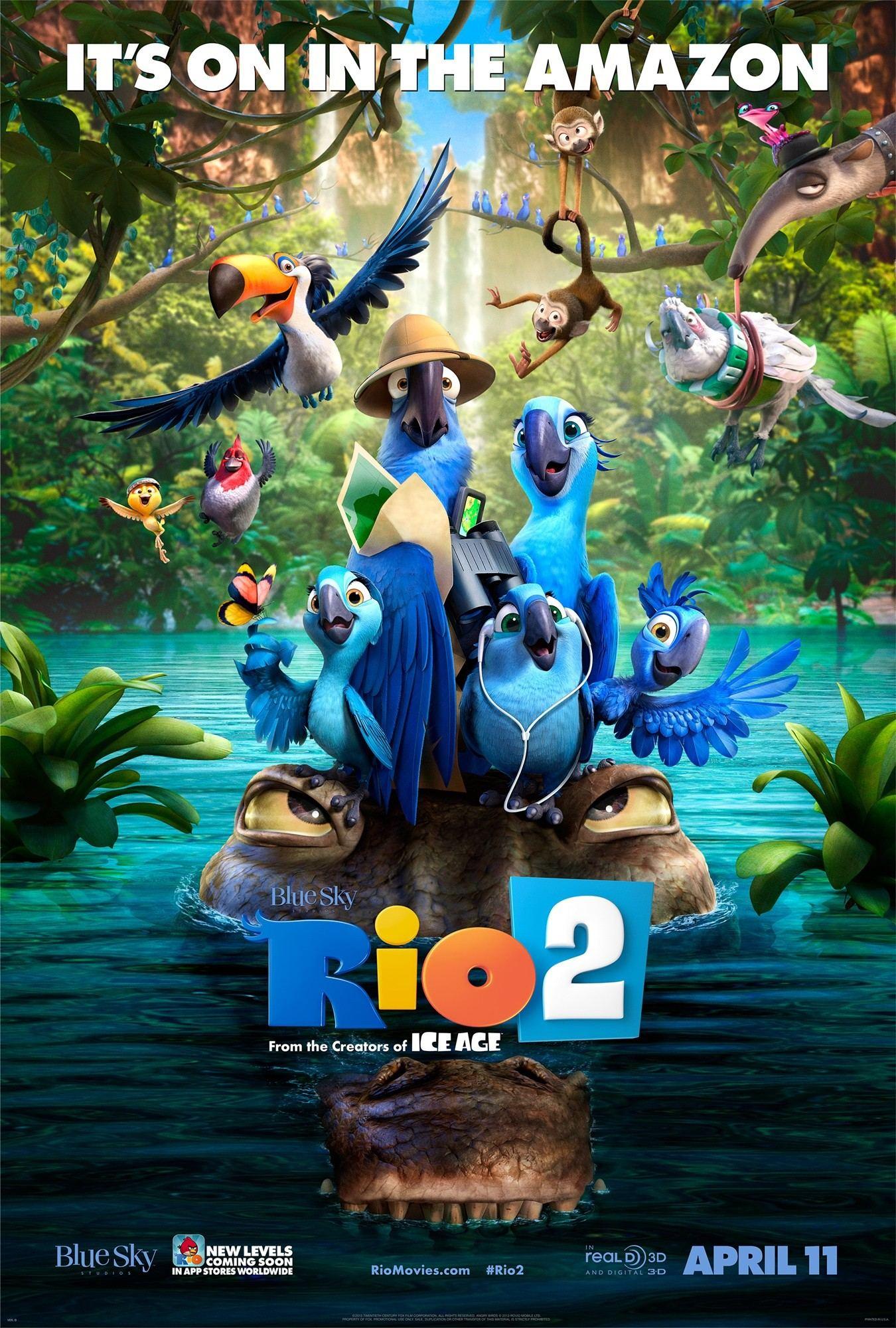 animated film rio 2 poster