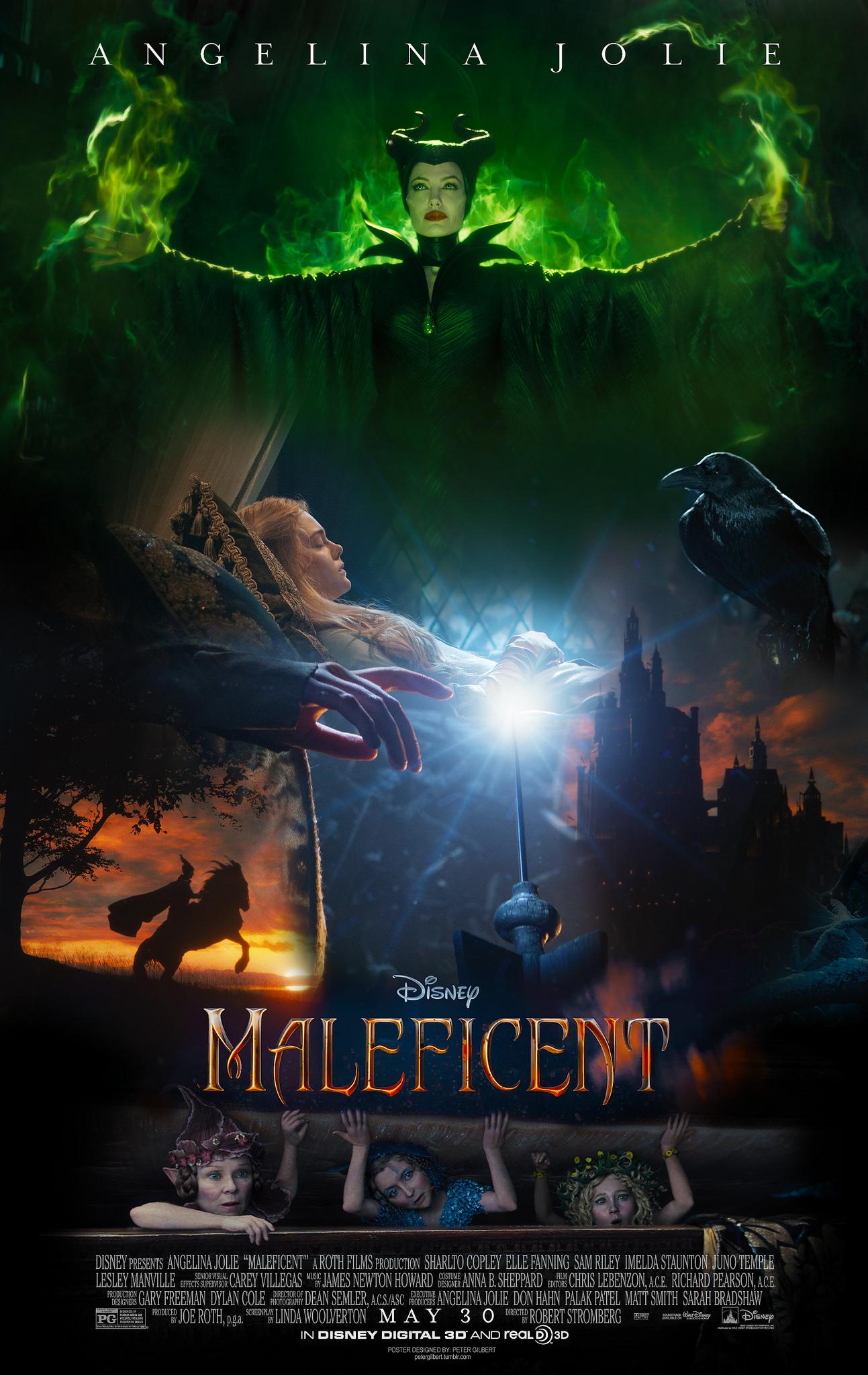 Movie Maleficent 2014 Poster
