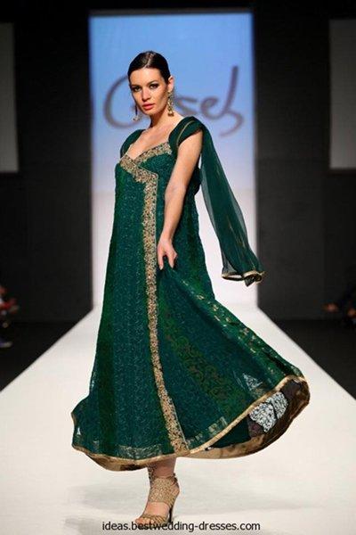 Fashion of Women Angrakha Frocks 2014