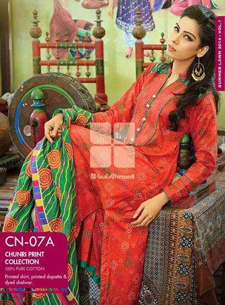 Fashion of Pakistani Women Chunri Dresses 2014