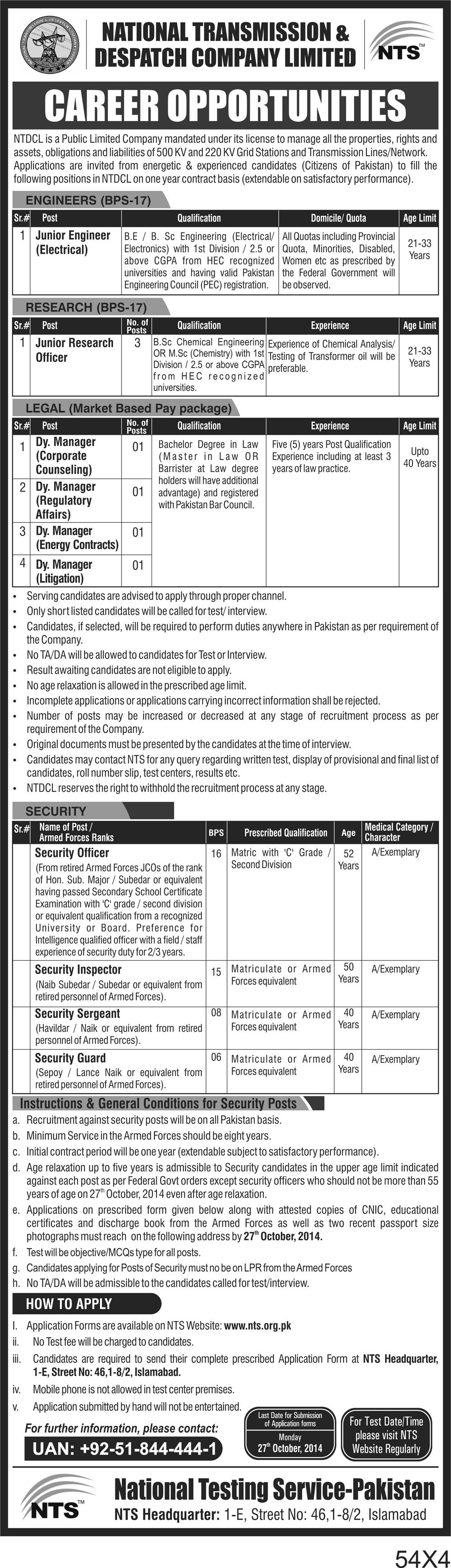 Donquhhowway National transmission and despatch company job...