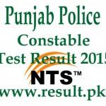 NTS Punjab Police Test Result 2015