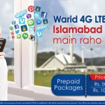 Warid 5GB for Rs. 100 4G LTE Bundle for Islamabad and Rawalpindi