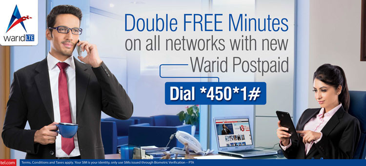 Warid Double Free Minutes Offer 2015