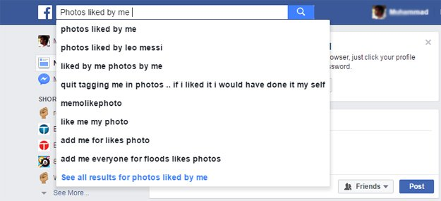 how to see friends likes on facebook