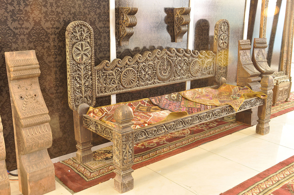 Unique wood and leather furniture of swat latest in pakistan - Latest furniture ...