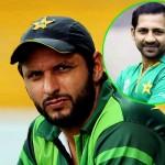 Shahid Afridi and Sarfraz Ahmed