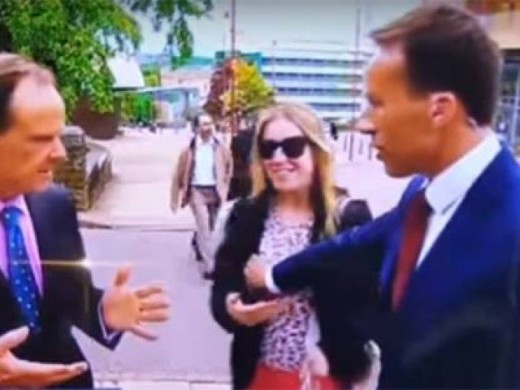 BBC Reporter Touched Woman Breast and She Slapped him
