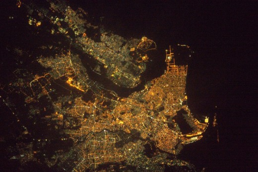 This picture of Karachi was taken by French astronaut Thomas Pesquet
