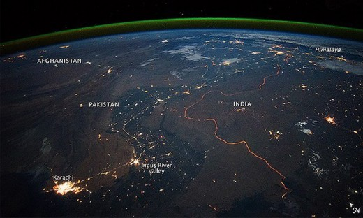 NASA uploaded this image of Pak-China border on their website