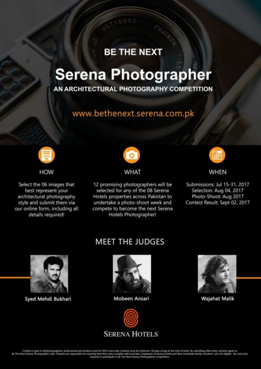 Chance to Become Serena Hotels Photographer