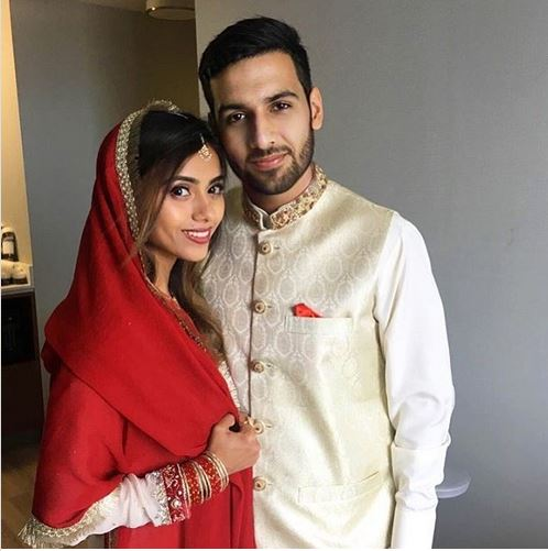 Zaid Ali with Wife