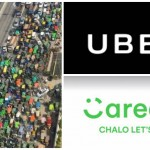 Rickshaw and Taxi Drivers Protest against Uber and Careem