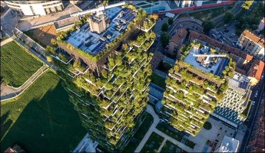 Unique Plan to Build Buildings Covered With Trees in China