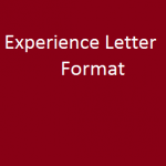 experience letter format
