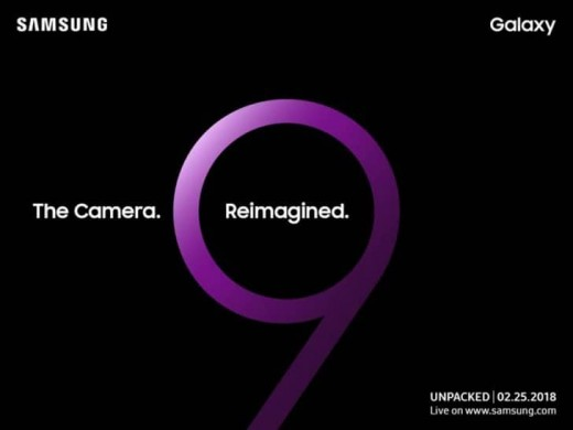 Samsung Galaxy S9 event poster