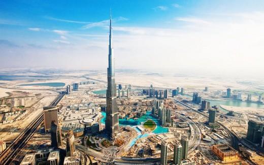 burj khalifa aka burj dubai wide