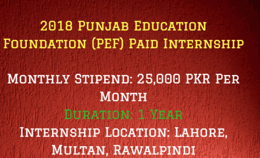 Punjab Education Foundation Internships (PEF)