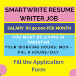 Smartwrite Resume Writter job