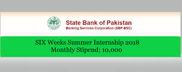 State Bank of Pakistan  Internship 2018