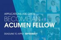 Acumen Fellowship Program 2019