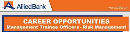 Allied Bank Jobs 2018
